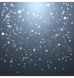 Christmas snowflakes on a gray background vector image vector image