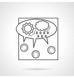 Crowdsourcing line icon vector image