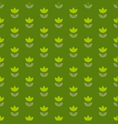 Grass green color holland tulip repeatable motif vector