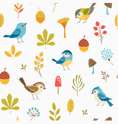 llittle forest pattern vector image