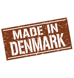 Made in denmark stamp vector