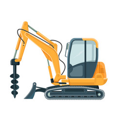 modern powerful drilling machine with big sharp vector image vector image