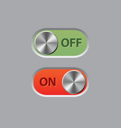 off and on buttons vector image vector image
