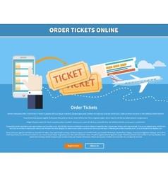 Order tickets online vector