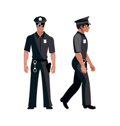 policeman in american cop uniform vector image