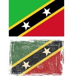 Saint kitts and nevis grunge flag vector