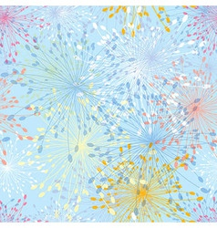 Seamless pattern dandelion flower vector image