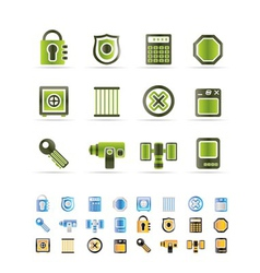 Security and business icons vector