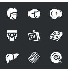 Set of boxing vector