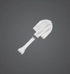Shovel sketch logo doodle icon vector