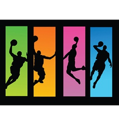 Sportsperson silhouette vector image