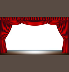 stage with red curtain vector image vector image