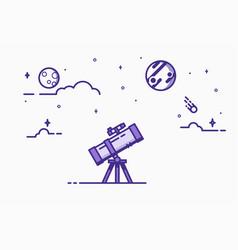 telescope line vector image vector image