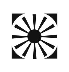 The symbol of the sun icon vector image
