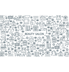 thin line design beauty banner vector image vector image