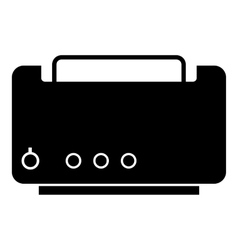Toaster icon simple style vector image