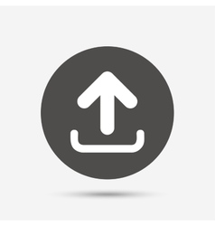 Upload sign icon Upload button vector image