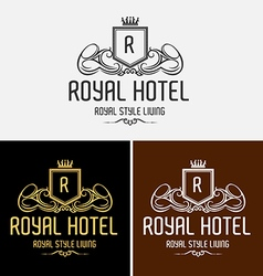 Royal hotel logo vector