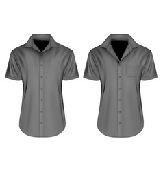 mens short sleeved shirts vector image