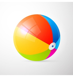 Colorful Beach Ball Isolated on Light Grey vector image