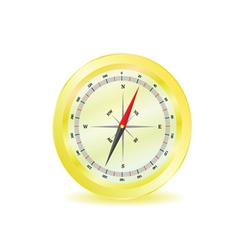 Compass in yellow color vector
