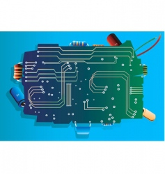 Electronic board vector