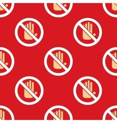 No entry hand stop pattern vector
