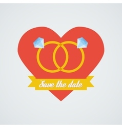 wedding rings icon Flat design vector image