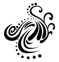 Abstract tribal tattoo vintage engraving vector