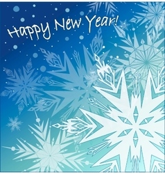 Beautiful background with snowflakes vector