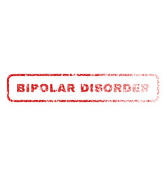 Bipolar disorder rubber stamp vector