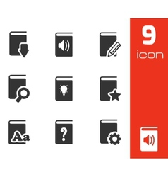 black books icons set vector image vector image