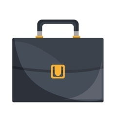 Business briefcase male accesorie isolated icon vector