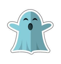Cartoon ghost april fools day vector