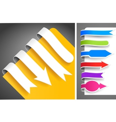 colour bookmarks vector image