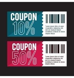 Coupon design sale icon shopping concept vector