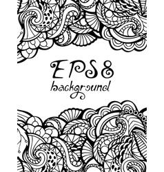 Doodles background vector image