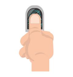 finger print symbol vector image