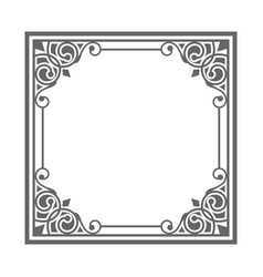Gray frame with vintage ornaments vector