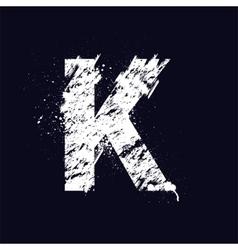 Grunge letter K vector image