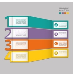 Infographics process chart module vector