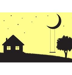 Moon swings vector image