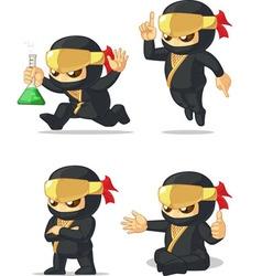 Ninja customizable mascot 12 vector