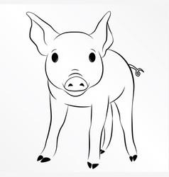 pig piglet piggy swine hog eps 10 vector image