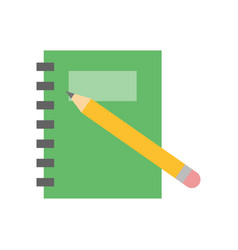 planner notebook vector image