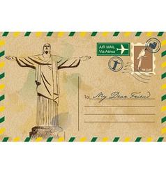 Postcard from Rio De Janeiro vector image