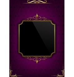 Purple celebration card vector image vector image