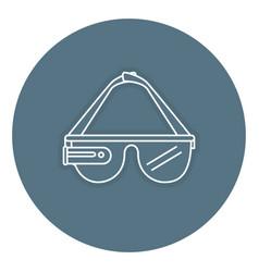 Reality virtual glasses icon vector
