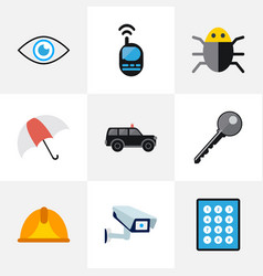 Set of 9 editable procuring icons includes vector