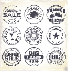 Summer sale grunge rubber stamp vector